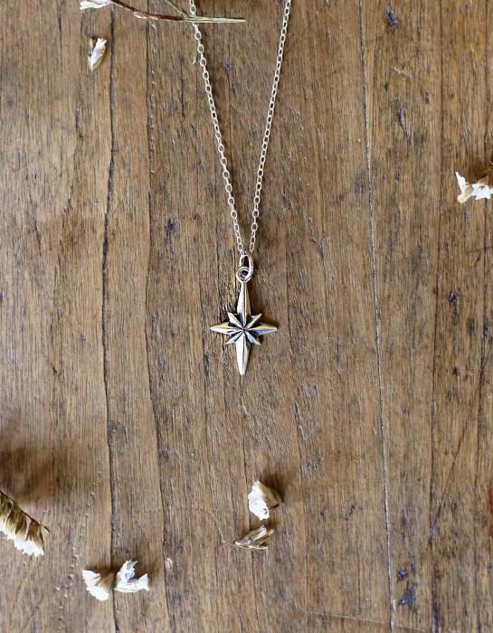 "Collier ""Northern Star"" argent 925"