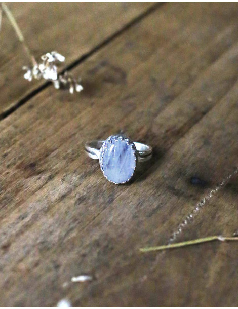 """""""Luna"""" silver and moonstone ring"""