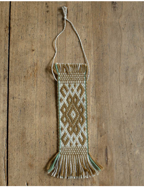 Baltic handwoven wall decoration mustard