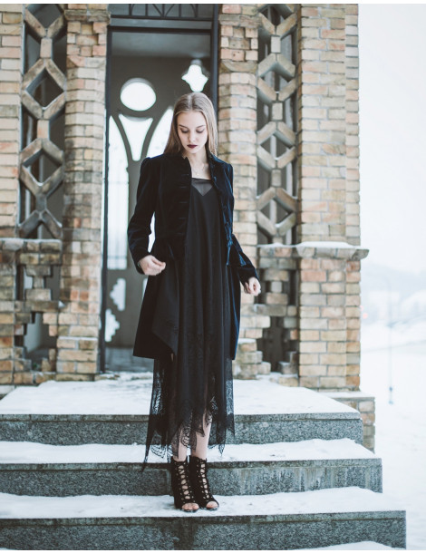 """Nadya"" black lace tunic dress MADE TO ORDER"