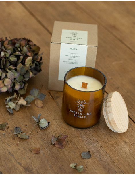 "FREYR scented candle by ""Smells like Spells"""