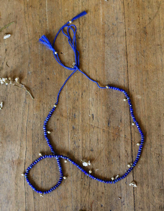 """Solstice"" gold and Sodalite necklace"