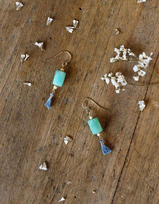 """Vicky"" aventurine earrings"