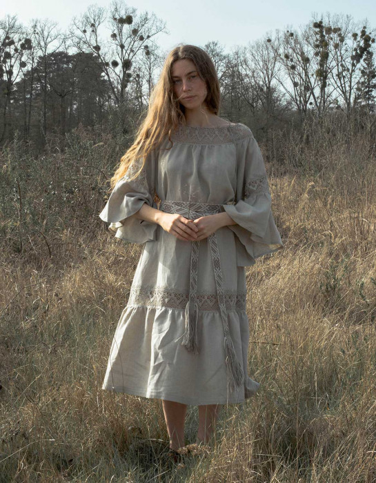 """Giedre"" natural linen dress"
