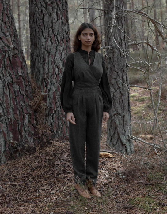 """""""Lana"""" pure wool jumpsuit moss green limited series"""