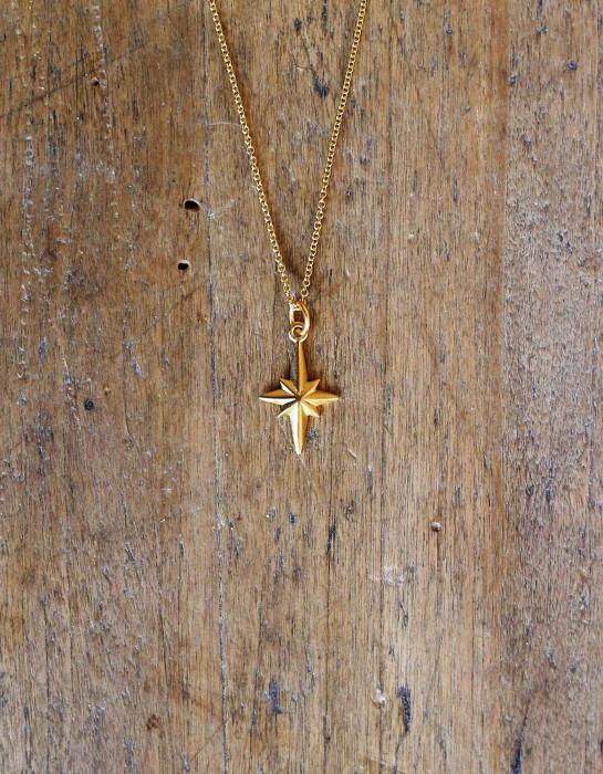 "Collier ""Northern Star"" Or 14k"